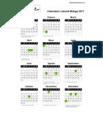 Calendario Laboral Malaga 2017