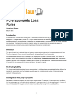 Pure Economic Loss Liability Rules