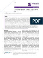 Omega-3 Fatty Acids for Breast Cancer Prevention