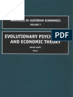 (Advances in Austrian Economics) R. Koppl-Evolutionary Psychology and Economic Theory, Volume 7 (Advances in Austrian Economics)-Emerald Group Publishing Limited (.pdf