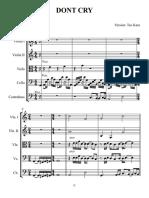 Dont Cry - Partitura y Partes