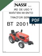 BT 2001R II Tabla Mantenimiento Pequeña