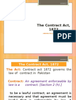Contract Act 1872 , Pakistan. An applicable law in Pakistan