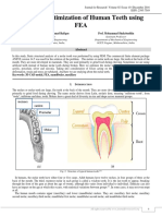 DESIGN AND OPTIMIZATION OF HUMAN TEETH USING FEA