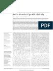 Determinants of Genetic Diversity NRG2016