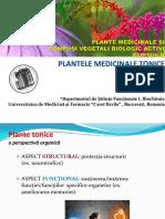 Curs - plante tonice