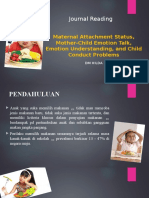 Maternal Attachment Status, Mother-Child Emotion Talk,