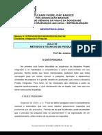 A - Texto - Aula 02 - Métodos e Técnicas de Pesquisa