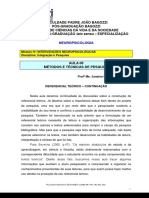 A - Texto - Aula 08 - Métodos e Técnicas de Pesquisa