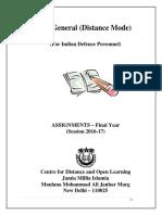 Cdol Assignments Ba Idp 2016 17 (1) - eguaridan