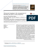 2014, Ultrasound Imaging in the Management of Bleeding and Pain in Early Pregnancy