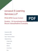 PEGA Online Training | MindboxTrainings
