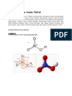 Struktur Kimia Nitrat