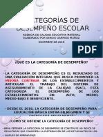 Categorías de Desempeño ESCOLAR 2015-2016 (1)
