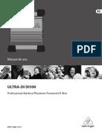 Manual Behringer ULTRA-DI100
