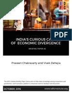 Indias Curious Case of Economic Divergence
