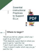 essential instructional practices - april 29