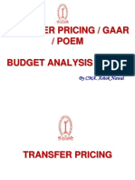 Transfer Pricing GAAR POEM