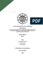 Ugm_2009_kk_t_sistem Hod (Hydrogen on Demand) Ramah Lingkungan Untuk Penghematan Bahan Bakar Bensin Dengan Teknologi Electrolyzer_full Paper