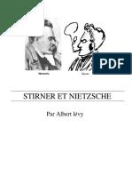 Stirner Et Nietzsche Par Albert Levy