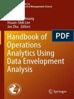(International Series in Operations Research &Amp_ Management Science 239) Shiuh-Nan Hwang, Hsuan-Shih Lee, Joe Zhu (Eds.)-Handbook of Operations Analytics Using Data Envelopment Analysis-Springer US