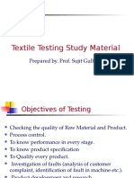 Textile Testing Study Material
