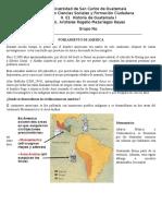 Historia Resumen Poblamiento de Guatemala