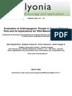 Evluacion de amenazas antropogenicas en el Pn Yasuni y sus implicaciones para la conservacion de mamiferos (Zapata ey al., 2006).pdf