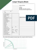 Conveyor Inquiry Sheet