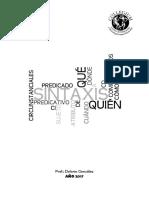 Cuadernillo Lengua 3er Año Unidad I Sintaxis - 2017