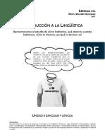 Cuadernillo Lengua 5to Año Unidad I y II Linguistica y Análisis de Discurso - 2017
