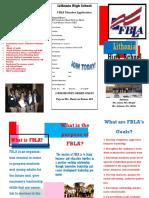 fbla brochure