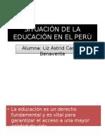Situación de La Educación en El Perú