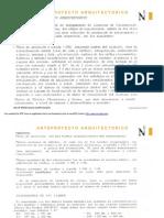 Anteproyecto y Proyecto Arquitectónico
