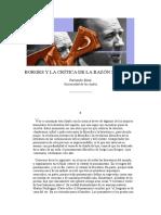 Baez Fernando - Borges Y La Critica de La Razon Subita