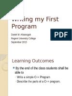 Writing My First Program