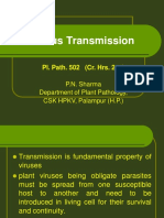 Lect. 7 Pl Path 502 Plant Virus Transmission