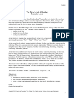 foundation lesson  the three levels of reading pdf