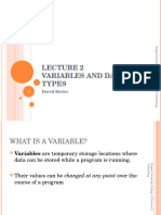 Slide02-Variables and Data Types