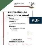 Lotizacion de una Zona Rural