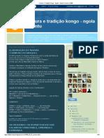 Cultura e Tradição Kongo - Ngola - Bantu_ Fevereiro 2009