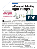 Sizing, Specifying and Selecting Centrifugal Pumps