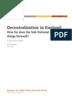 Decentralisation in England