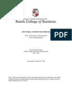 Management Doctoral Handbook