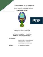 Patentes Regalías y Tributos