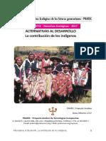 Alternativas al desarrollo, el aporte de los indígenas