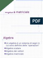 Algebra Matriciale