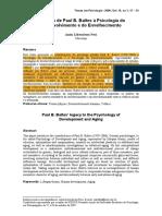 cópia de 03 - O legado de Paul B. Baltes à Psicologia do Desenvolvimento e do Envelhecimento