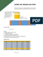 Analisis y Diseño de La Albañileria No Portante