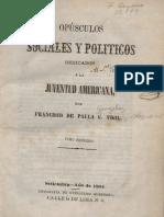 1862 Francisco de Paula González Vigil - Opúsculos sociales y políticos